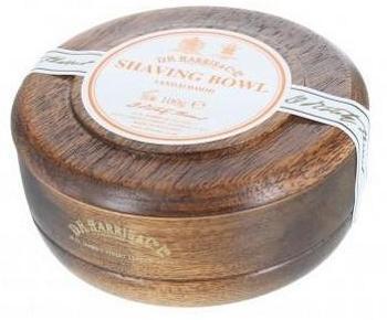 mydło do golenia w drewnianym tyglu
