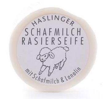 mydło do golenia z owczym mlekiem haslinger