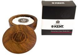 Kent mydło do golenia w drewnianym tyglu