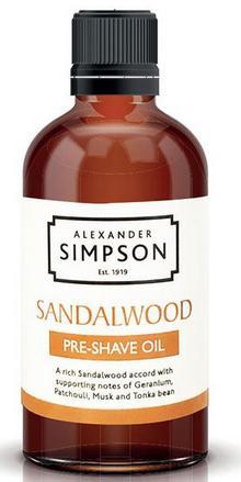 Simpson Sandalwood olejek przed goleniem